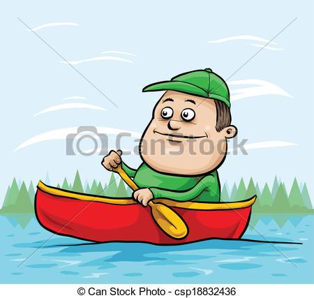 Canoe clipart cartoon Canoe of csp18832436 in paddling