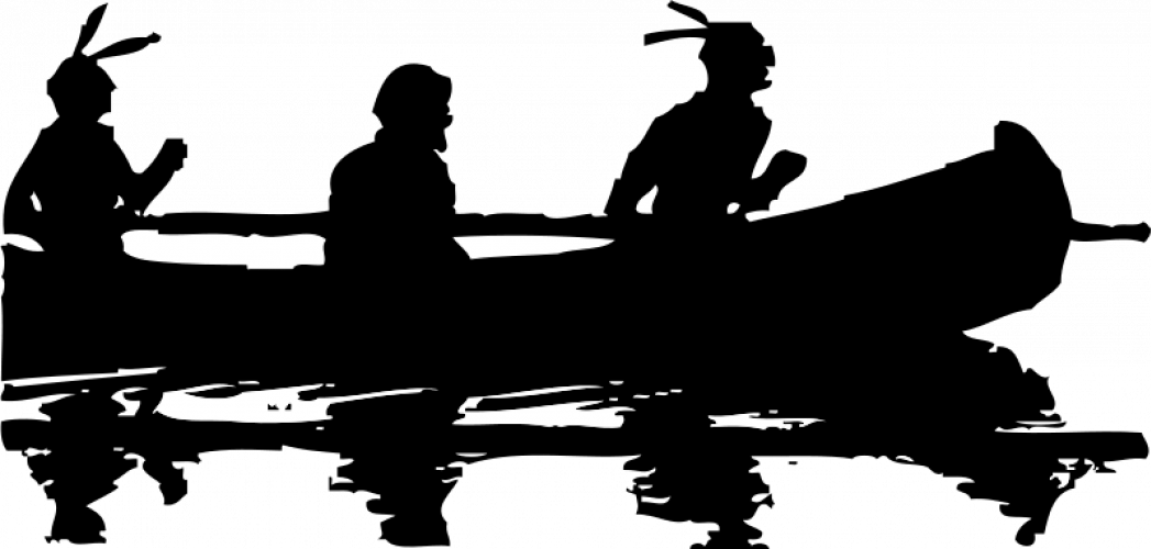 Totem Pole clipart canoe Clipart domain silhouette Americans Art