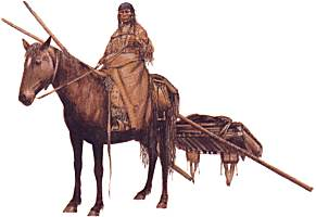 Canoe clipart first nations Travois traditional First Nations Plains