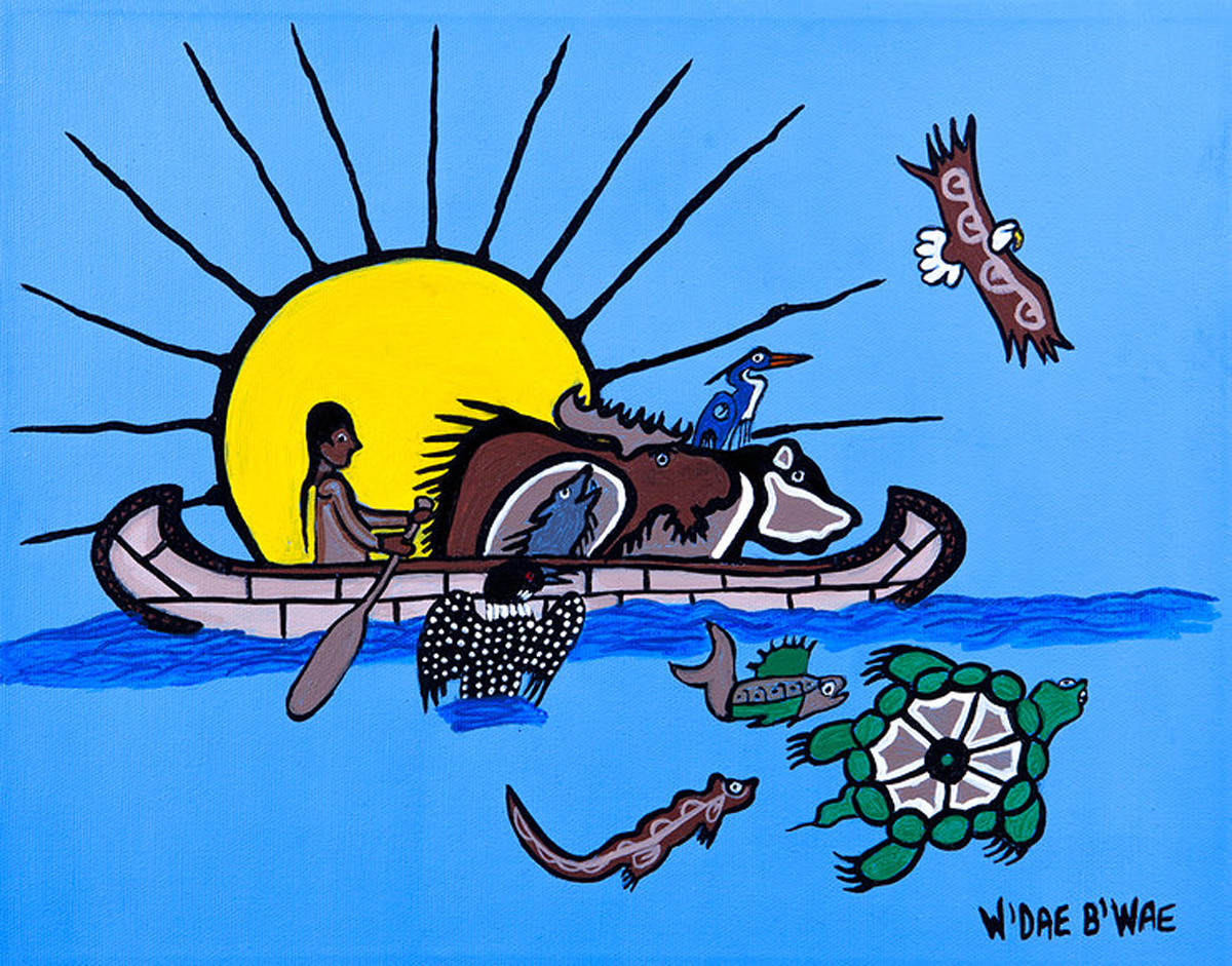 Canoe clipart first nations Contact Painter Canada Mike of