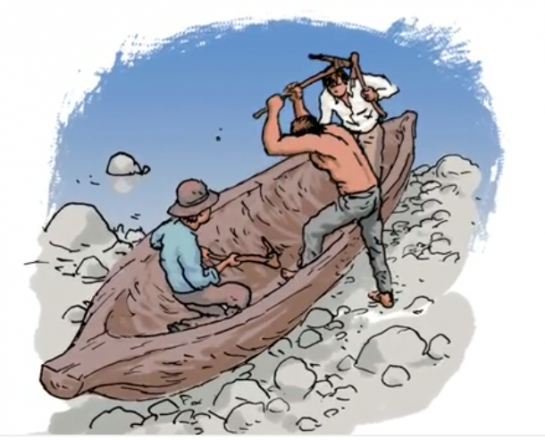 Canoe clipart first nations Small old Old and and