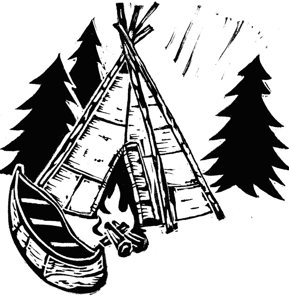 Canoe clipart first nations Teepee canoe fire jpg Canoe