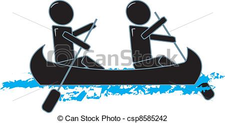 Canoe clipart low Illustration Canoeing Figures Figures Vector