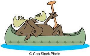 Canoe clipart low This moose a Moose canoe