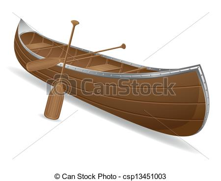Canoe clipart low Vector vector canoe canoe isolated