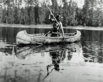 Canoe clipart ojibwe Etsy Art ANTIQUE American DIGITAL