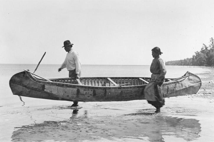 Canoe clipart ojibwe Canoe birchbark Ojibwe Leech Meet