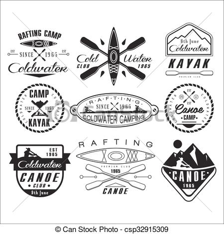 Canoe clipart rafting Clipart Canoeing elements  1