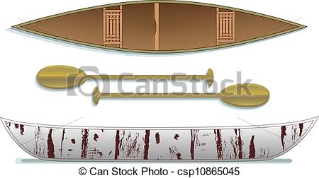 Canoe clipart side Down editing paddles top catching