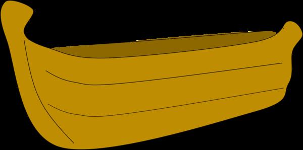 Canoe clipart wooden canoe C Free Images art Clker
