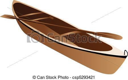 Canoe clipart wooden canoe Art of Wooden Three illustration