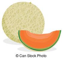 Melon clipart funny Cantaloupe melon sliced 407 and