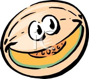 Cantaloupe clipart cartoon A Cartoon Clipart Clipart Cantaloupe