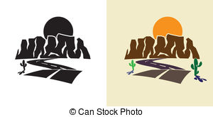 Canyon clipart Sunset free Illustrations of