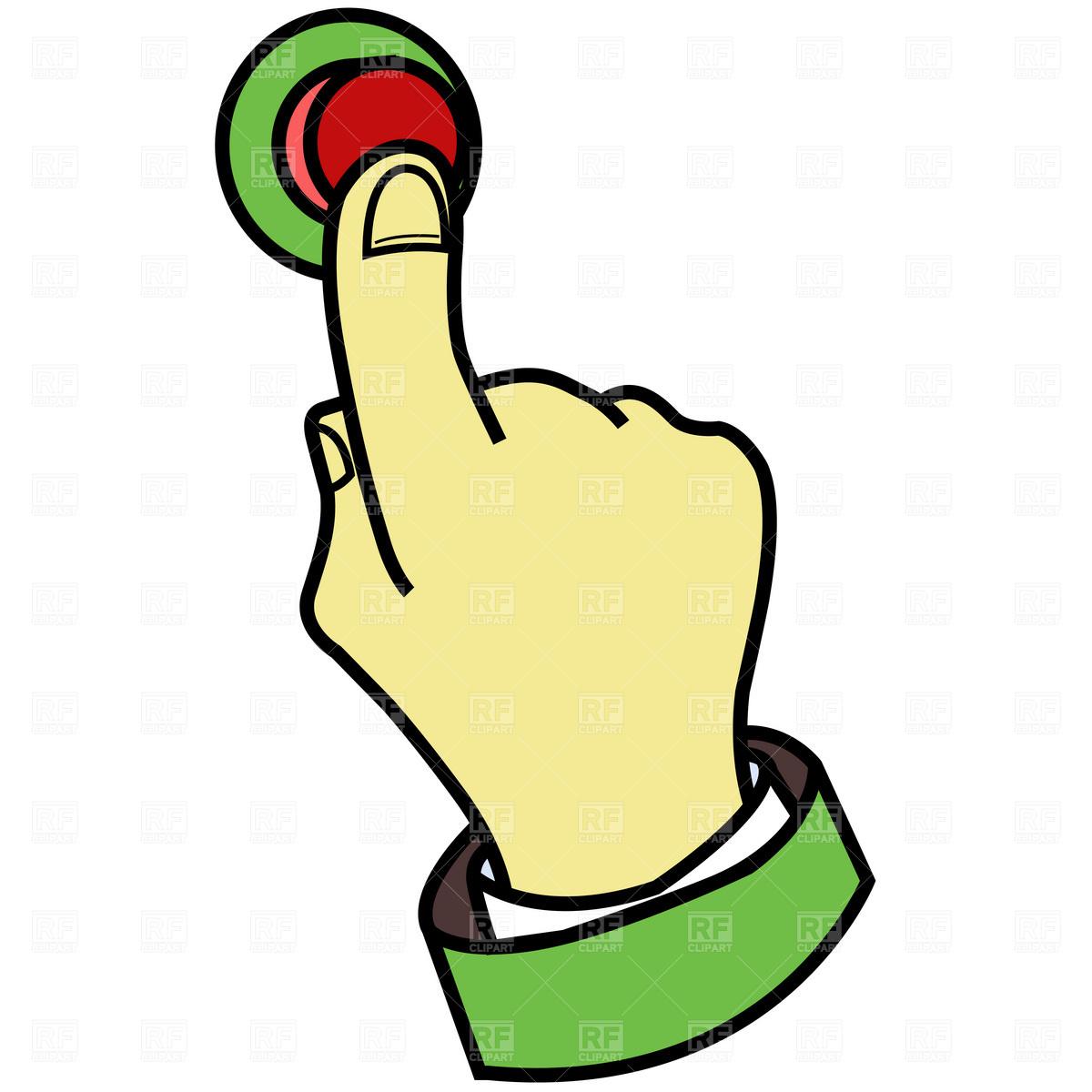 Button clipart press button Vector Image button Finger pressing