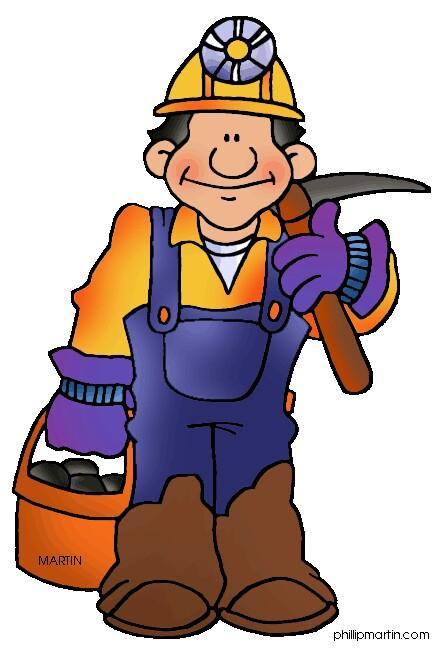 Caol clipart cartoon  art Miners Miner Coal