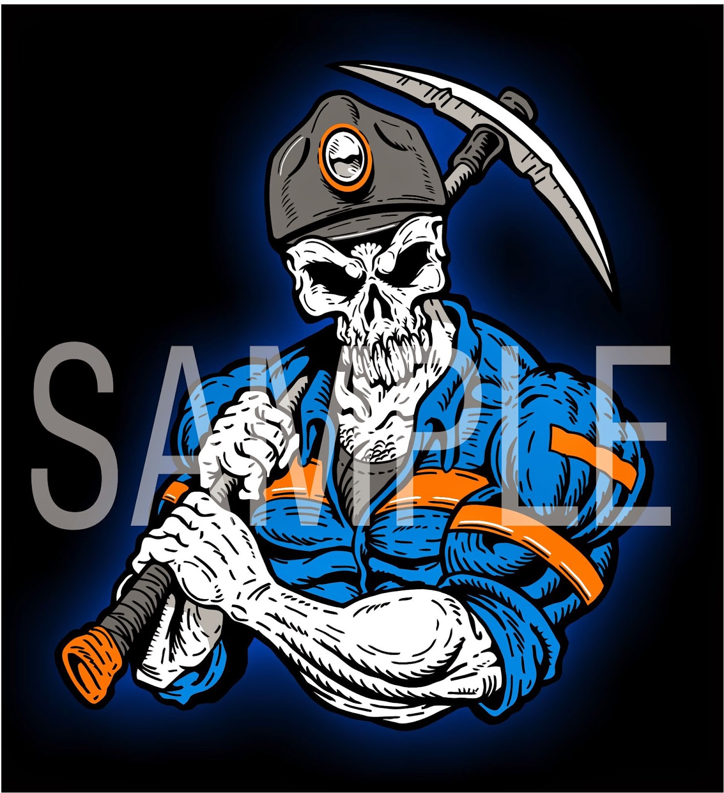 Caol clipart diamond miner 2015 ART SKULL FACE 04