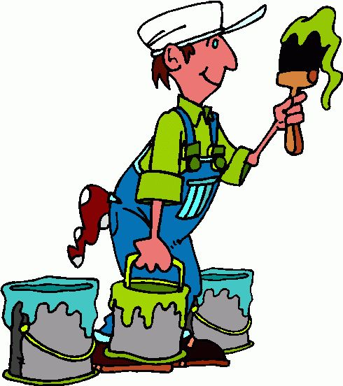 Paint clipart professional painter Pinterest clipart and Occupations images