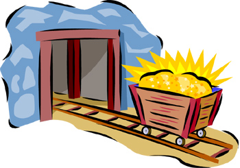 Cart clipart gold mine Download Art on Clip