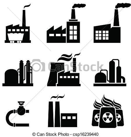 Caol clipart industrial building Factories buildings Power and Power