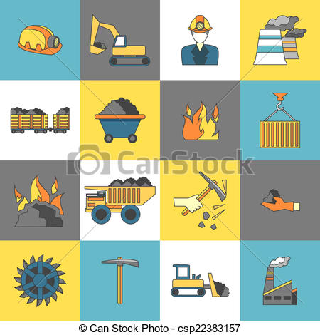 Caol clipart industry Machinery Line of Clipart Vector