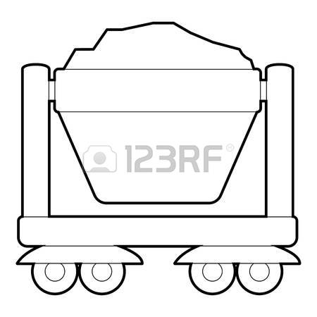 Caol clipart minecart Collection mine Illustrations 454 outline