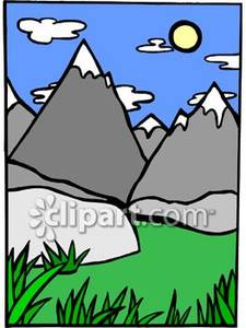Capped clipart Mountains capped free mountains clip