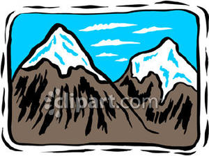 Mountain clipart two mountain #1