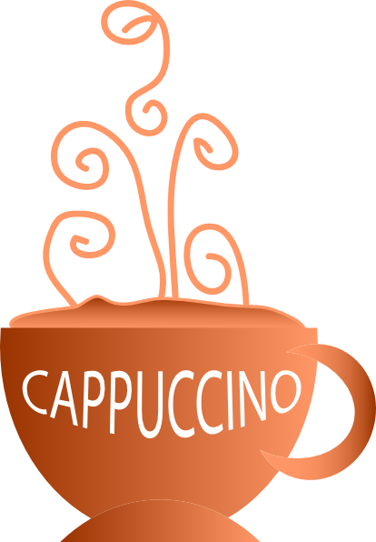 Cappuccino clipart Royalty  Clker clip as: