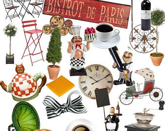 Cappuccino clipart bistro Cafe French Coffee art Clipart