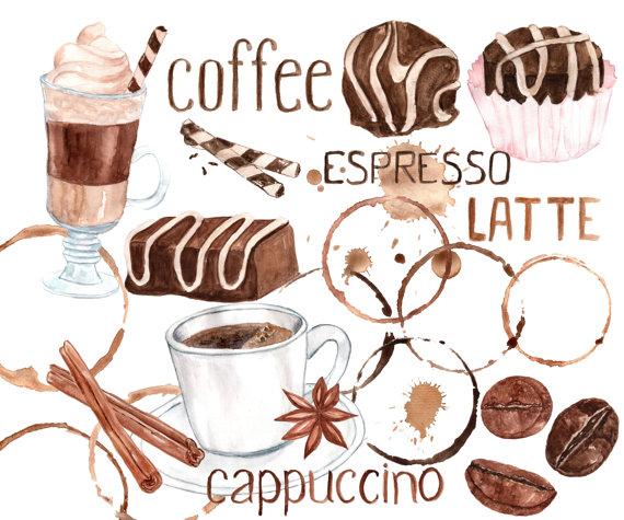 Cappuccino clipart coffee bean