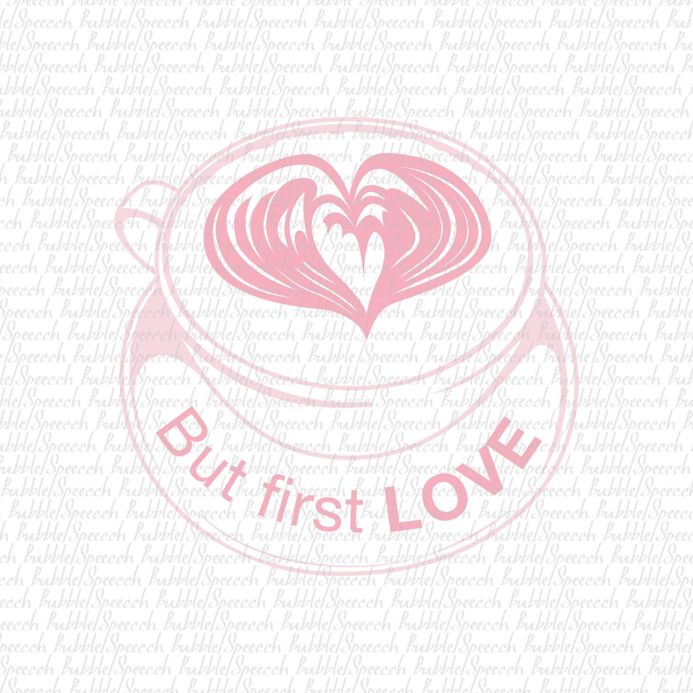 Cappuccino clipart coffee love Coffee Love art digital Svg