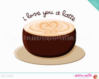 Cappuccino clipart coffee love Clipart Latte Cute I latte