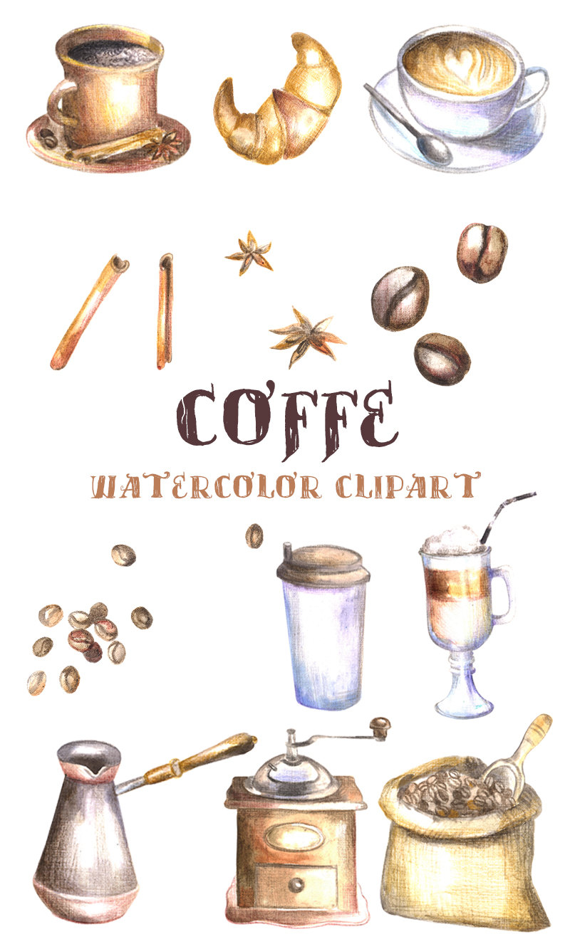 Cappuccino clipart cookie Coffee clipart coffee a This