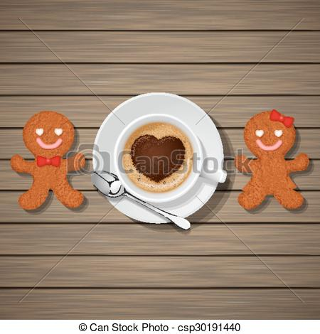 Cappuccino clipart cookie Of cup cappuccino of couple