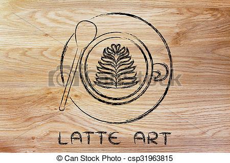 Cappuccino clipart latte Latte of text Art latte