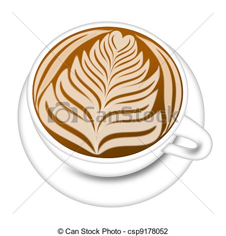 Cappuccino clipart latte art Illustration Espresso Art csp9178052 of