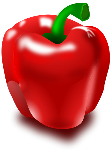 Capsicum clipart bell pepper Of Clipart Art Bell Pepper