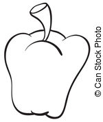 Capsicum clipart green leafy vegetable Clipart white Illustrations Capsicum of