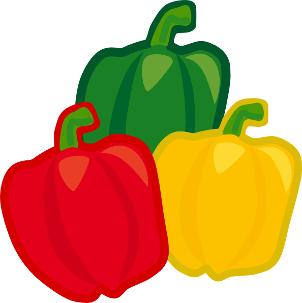 Chili clipart green capsicum Related  peppers art Cartoon