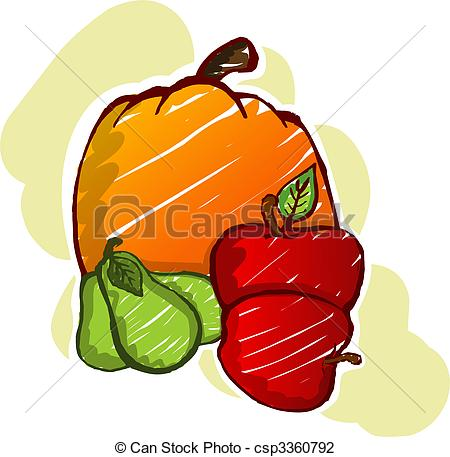 Capsicum clipart colour Illustration of of fruits Clip