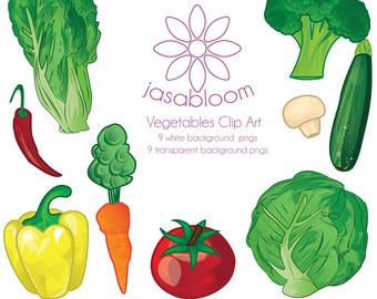 Capsicum clipart green leafy vegetable Carrot Etsy Capsicum Vegetable Instant