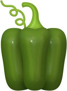 Capsicum clipart green leafy vegetable TWO Фотки png FRUIT