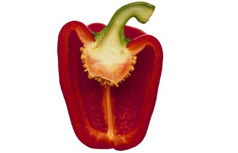 Capsicum clipart vegitables Cut half vegetables Pinterest in