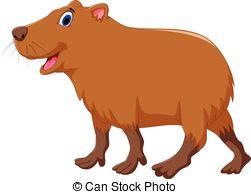 Capybara clipart Art cartoon capybara and of