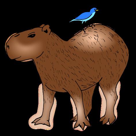 Capybara clipart Clipart #2 Fans clipart 69