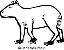 Capybara clipart Clip of vector capybara art