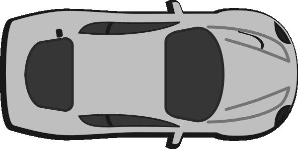 Aerial clipart view a car 0 Top Car overhead Red