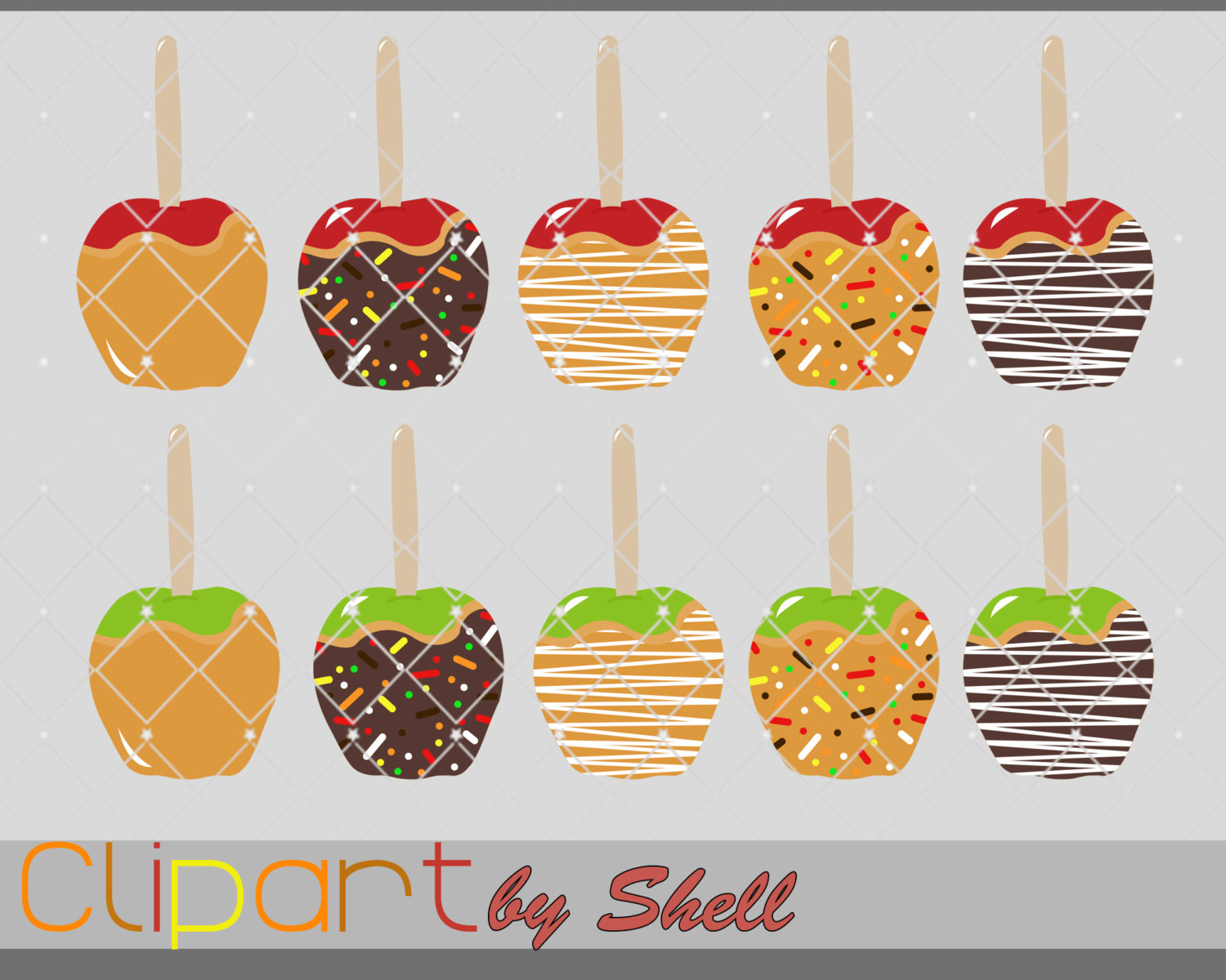 Caramel clipart candy apple Is This a file Fall