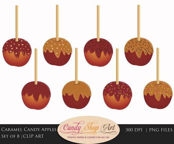Caramel clipart candy apple Candy  Apple Art Caramel
